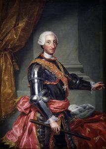 Carlos III retratado por Mengs hacia 1765